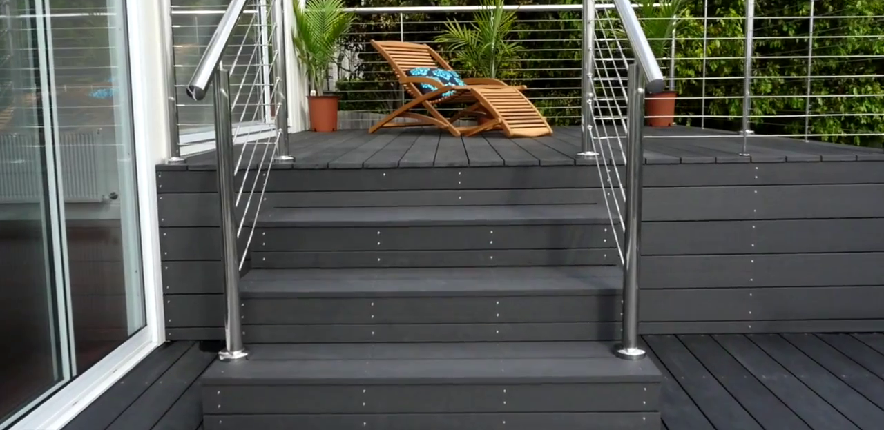 Find ekodeck 137 x 23mm greystone composite decking for Composite decking wickes
