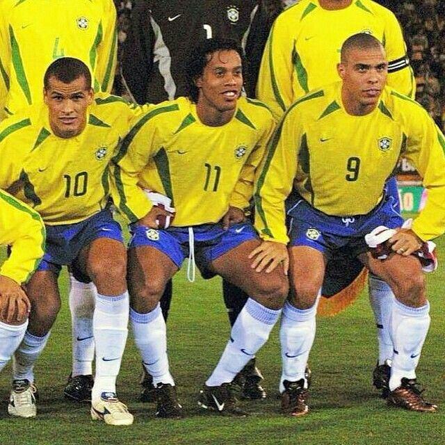 Rivaldo Ronaldinho Ronaldo Brazil R9 R10 R11 Selecao