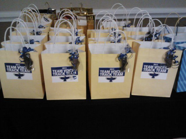 Gift Bags For Athletes Filled With Protein Bars Powerade Peanut