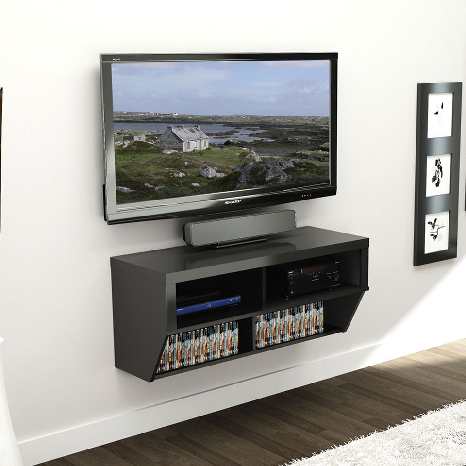 Prepac 42 Quot Wide Wall Mounted Av Console Awesome