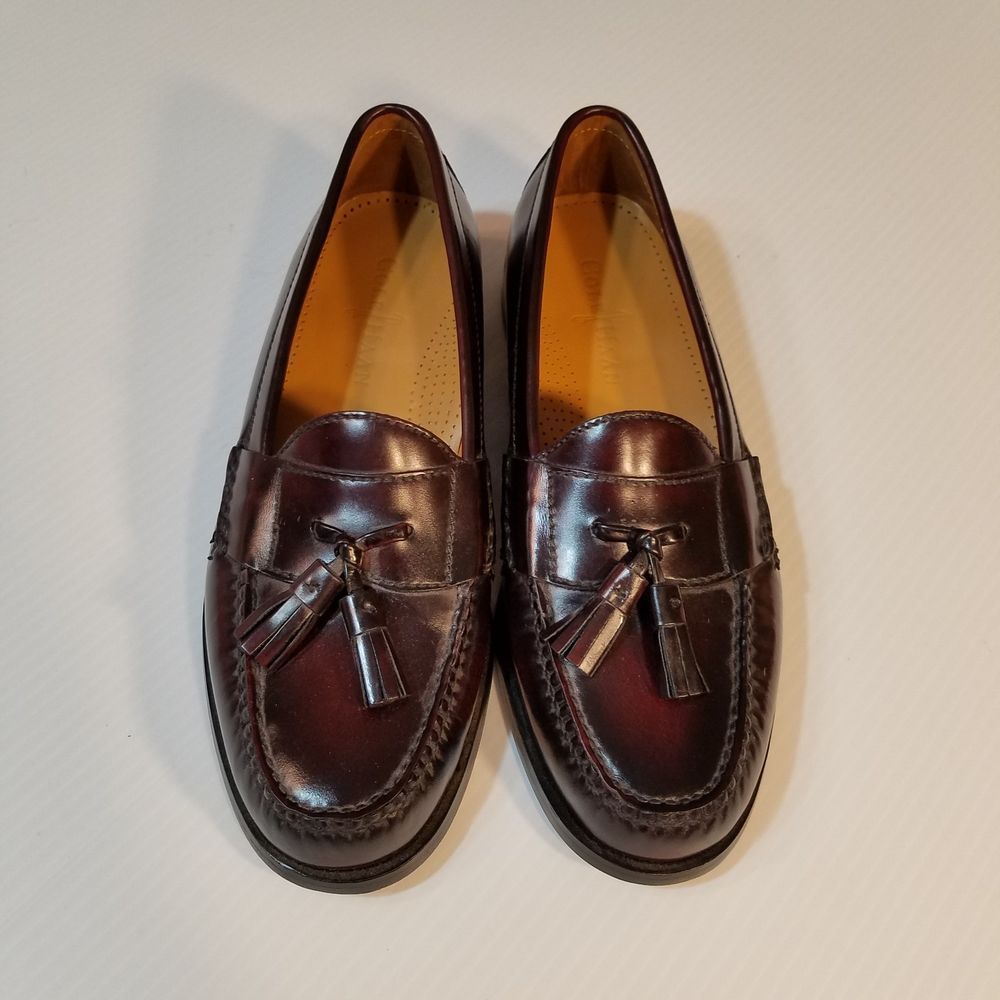 ac9ad60d2d32 Burgundy brownish color. good condition. heel protector in side back part  of shoes. wear on bottoms.
