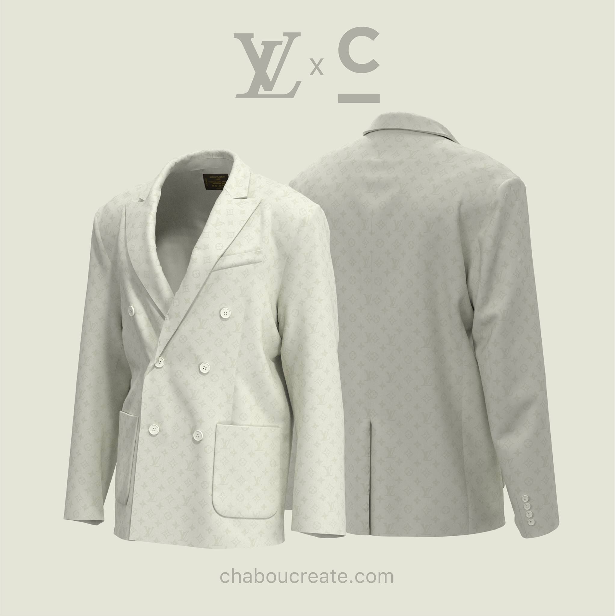 Louis Vuitton Blazers Designed In Clo By User Clo3d Virtualfashion 3dfashiondesign Fashion Design Software Virtual Fashion Blazer Designs