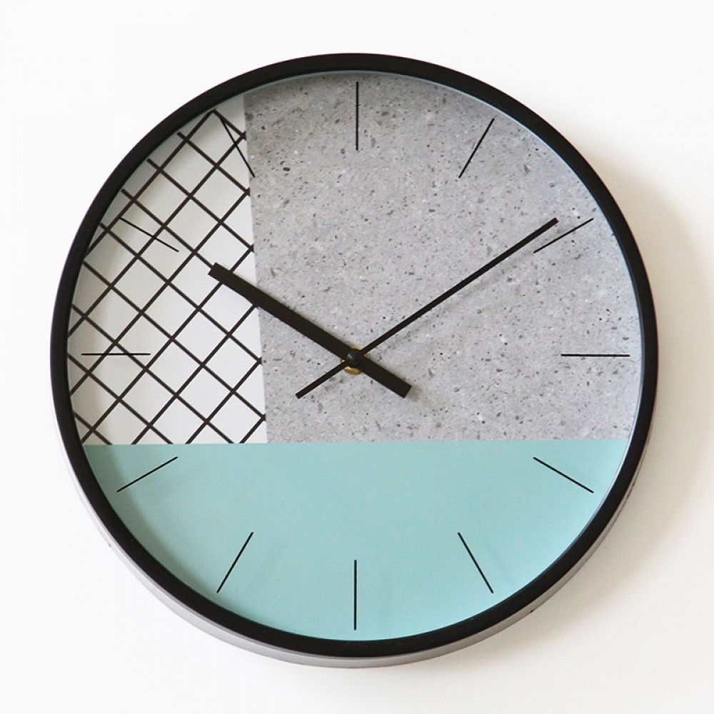12 Inch Creative Minimalist Wall Clock Green Round Wall Clock Modern Decorative Quartz Clock In 2020 Minimalist Clocks Minimalist Wall Clocks Round Wall Clocks
