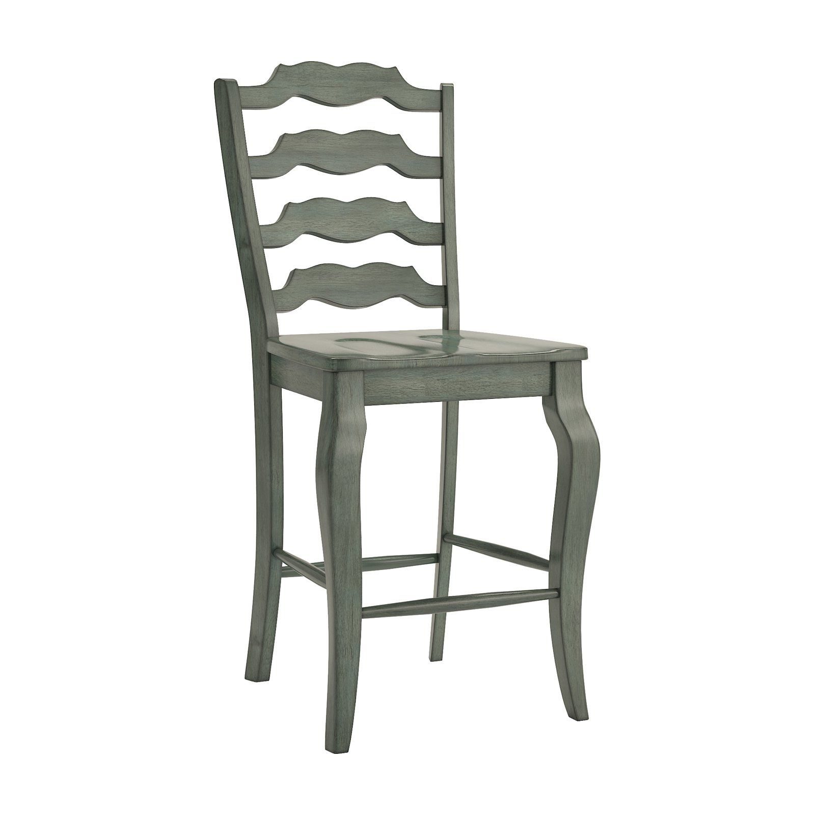 Weston Home Farmhouse Vintage French Ladder Back 24 in