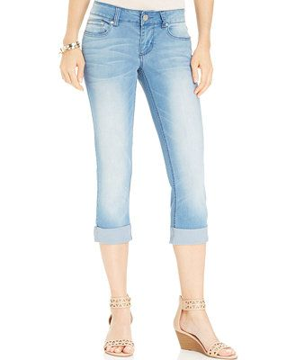 b4bfba163 Indigo Rein Juniors' Cuffed Cropped Jeans | Modest Clothes | Cropped ...