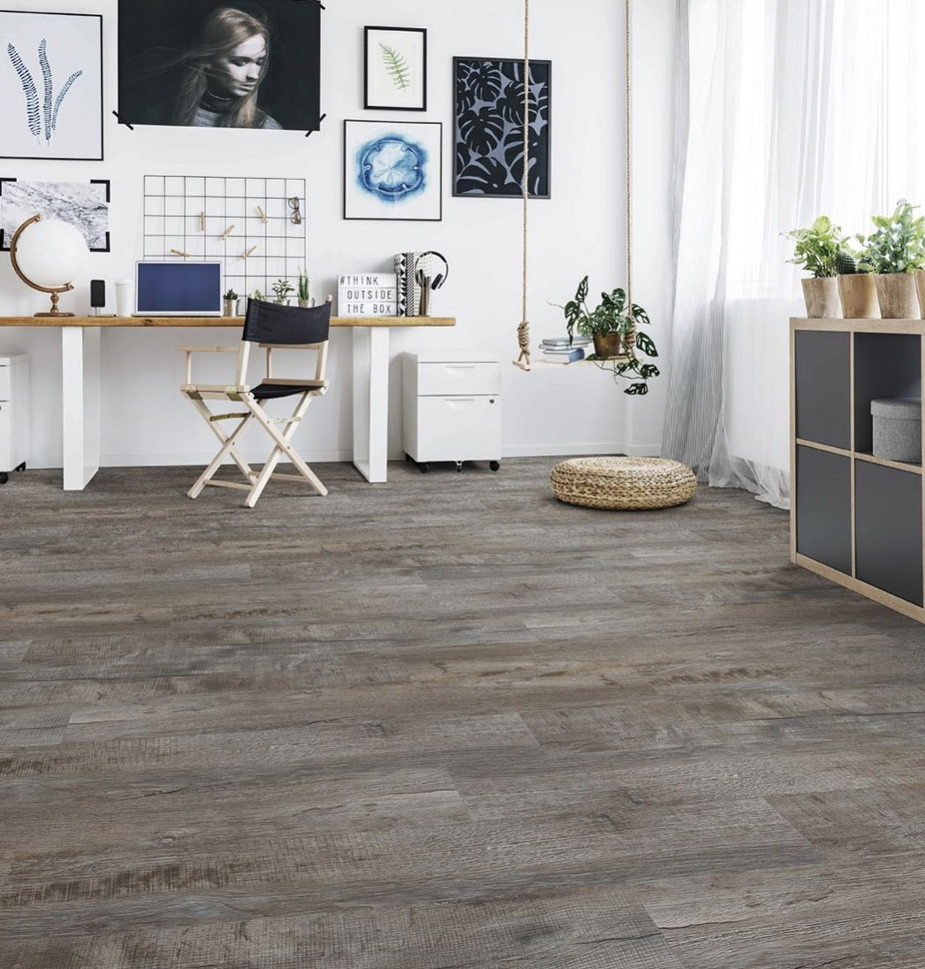 Stonecast Vinyl Plank Flooring Charcoal Rustic Oak