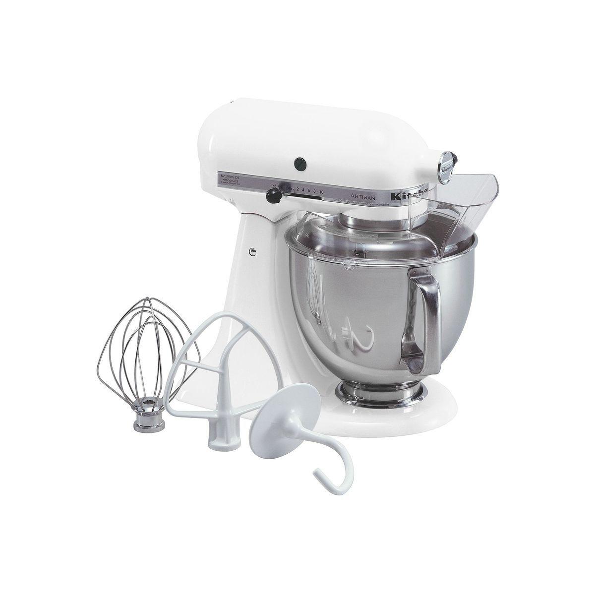 Kitchenaid ksm150ps artisan 5qt stand mixer white