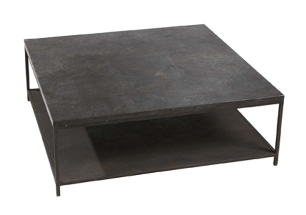 Stone And Metal Coffee Table