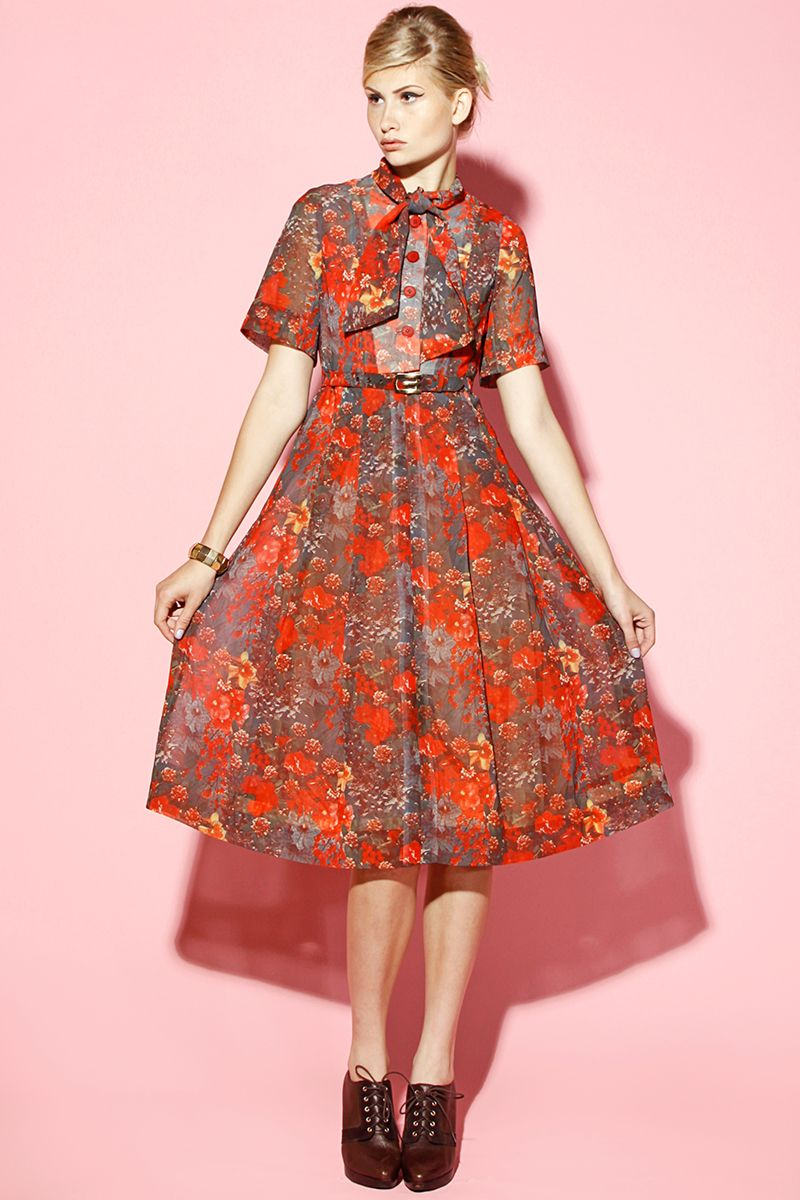 Shop Vintage Liberty of London 1960's Floral Print Dress