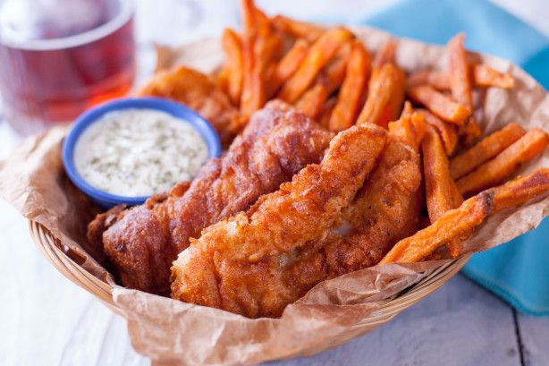 This is a great beer batter fish recipe, and is very easy to do. We  often fish all day with friends, and then cook the fish afterwards out on  deck. Yummy and great!