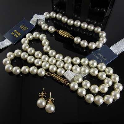 67aa7cc423e8 Collar Perlas Mallorca Bijoux Mujer Aretes Pulsera Chapa Oro