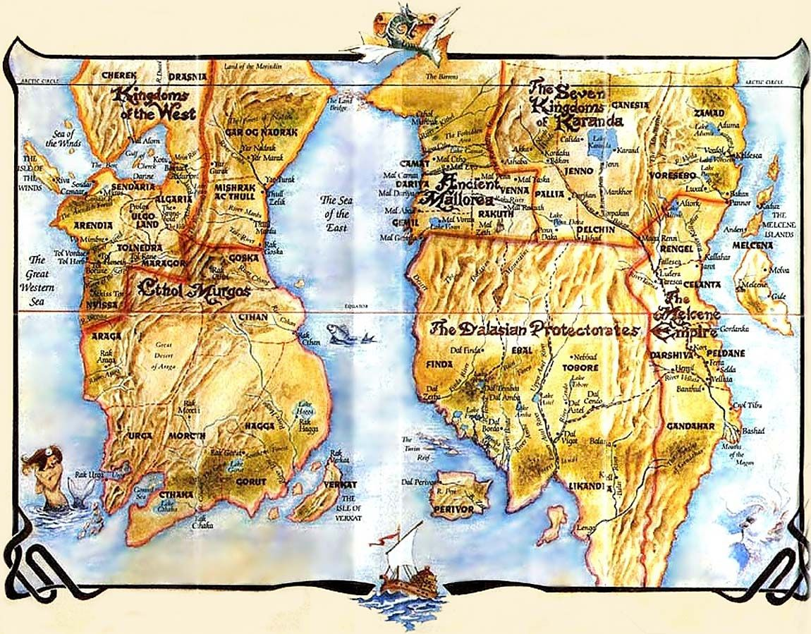 the belgariad maps | Myths and legends | Fantasy series, Fantasy