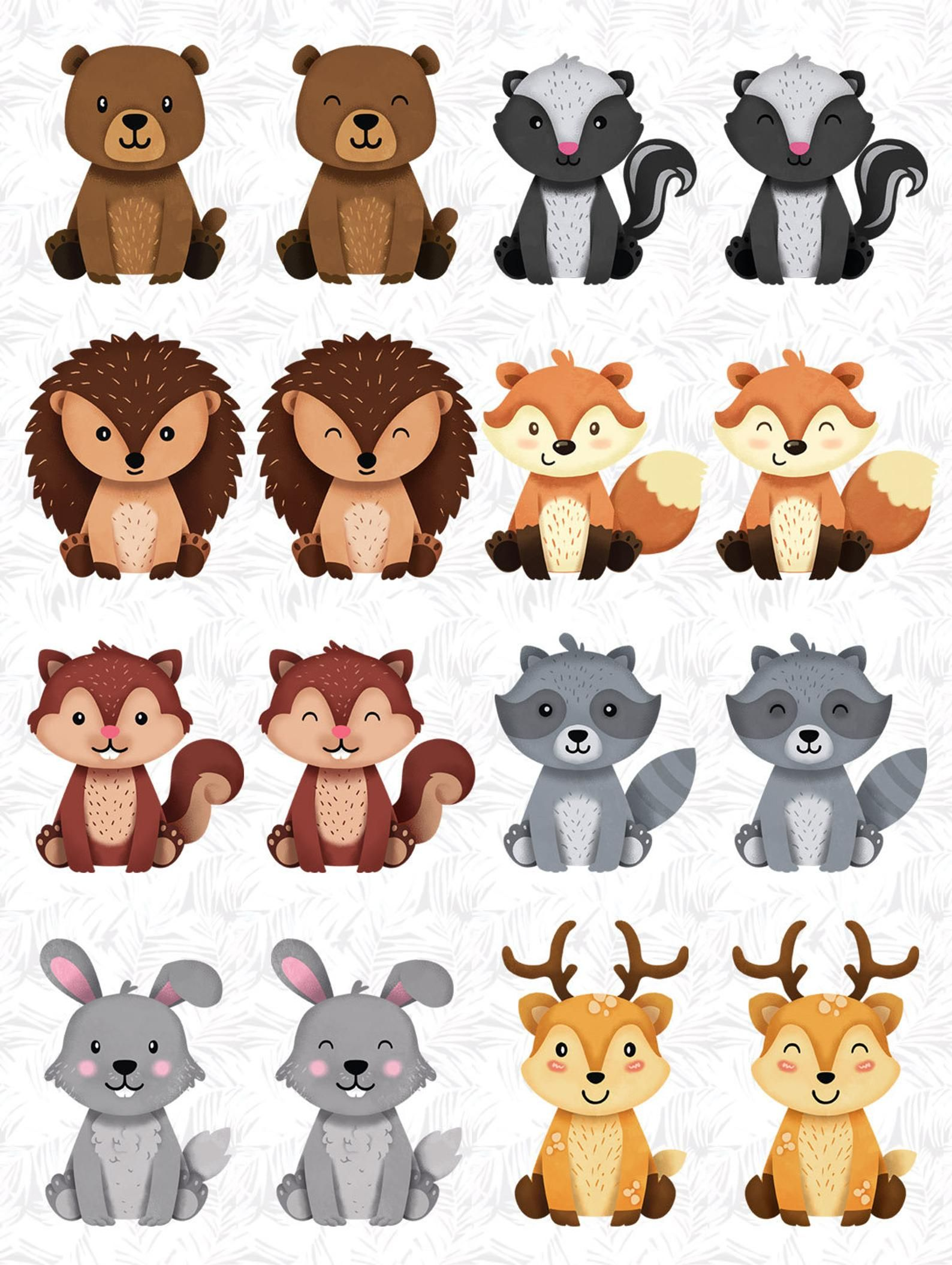 Woodland Animals Clipart Raccoon Forest Friends Sticker Animal Buddies Friendly Animal Woodland Baby Shower Woodland Animals Forest Friends Woodland Clipart