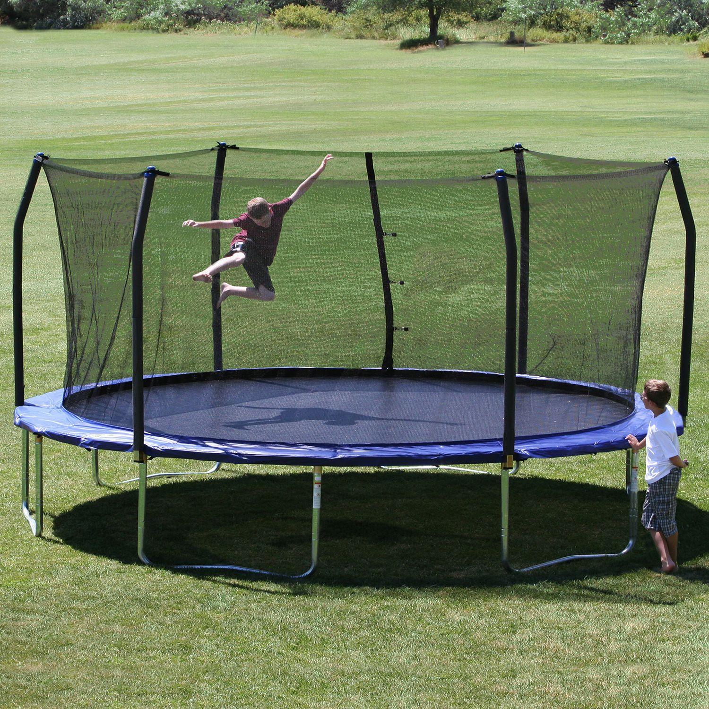 Skywalker Trampolines 17 X 15 Oval Trampoline And Enclosure Combo Sam S Club 399 00 Backyard Trampoline Oval Trampoline Best Trampoline