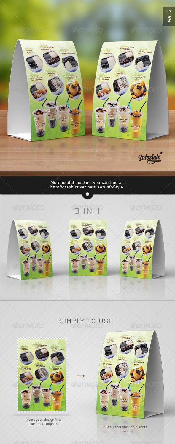 Paper Table Tent Mock-up Template Vol.7  sc 1 st  Pinterest & Paper Table Tent Mock-up Template Vol.7 | Product Mock Ups ...