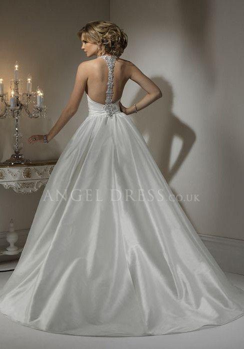 backless ball gown wedding dress | ... Ball Gown Taffeta Sleeveless ...