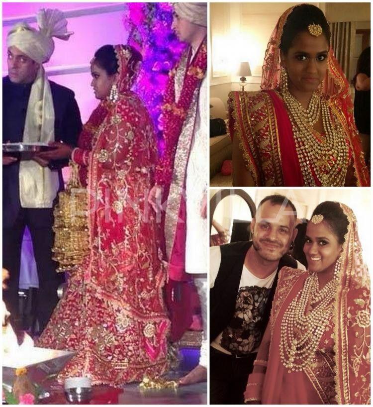 Arpita Khan Wedding Pic Celebrity Bride Indian Bridal Lehenga Bollywood Wedding