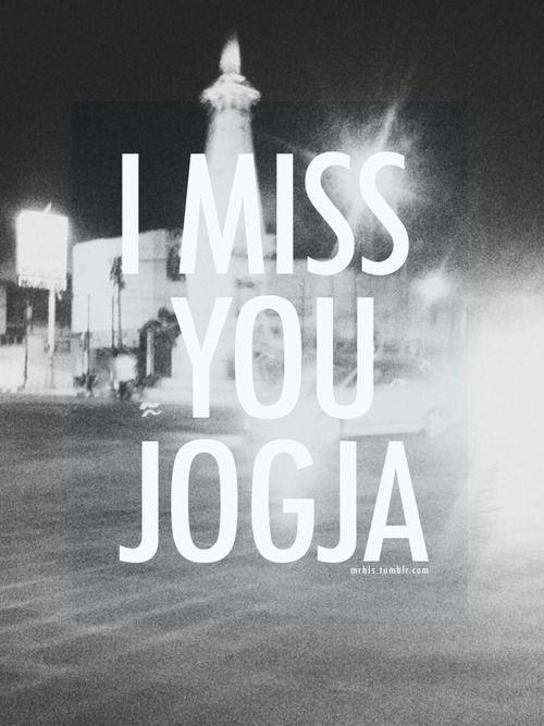 I miss you Jogja
