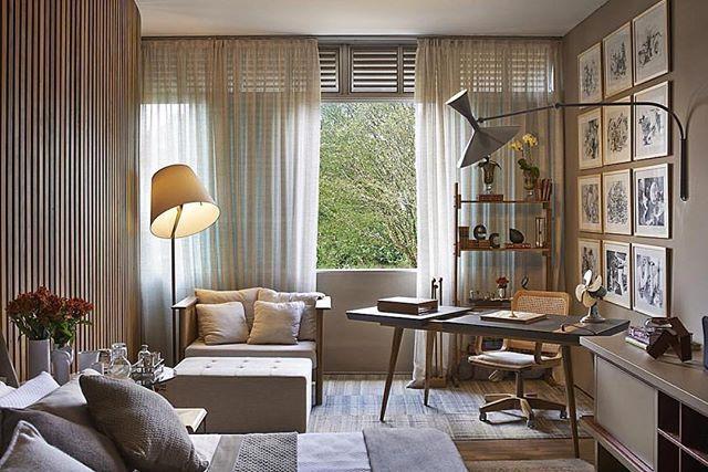Um cantinho para Home Office + descanso, bem aconchegante  {Projeto: Eduarda Correa} #cozy #relaxtime #design #decor