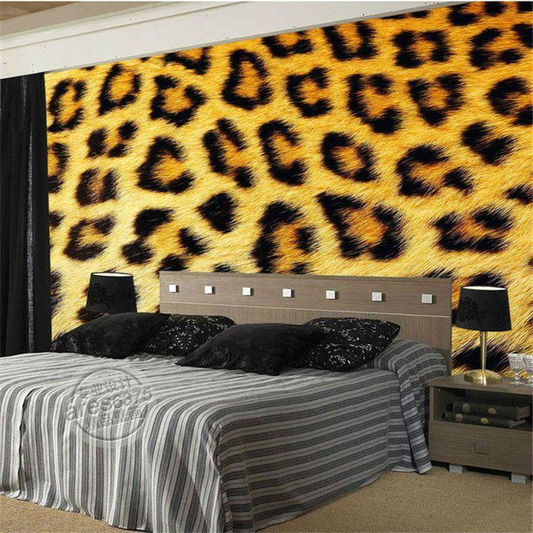 Fashion leopard print Wallpaper 3D Photo Wallpaper Custom Wild ...