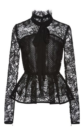 8d9433cab3b1 Lace Peplum Top by ELIE SAAB for Preorder on Moda Operandi