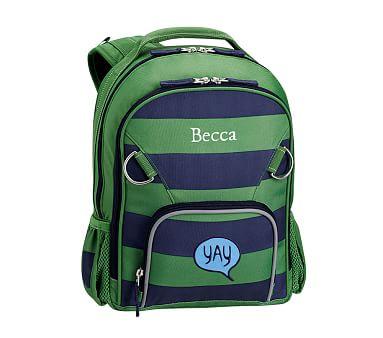 Fairfax Green Navy Stripe Backpacks Striped Backpack