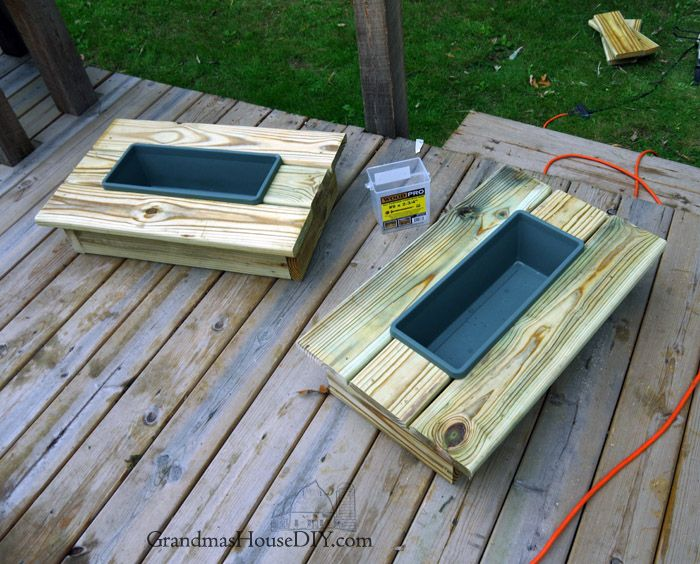 How To Build Wood Working Diy Do It Yourself An Outdoor End Table Cooler  Project Using