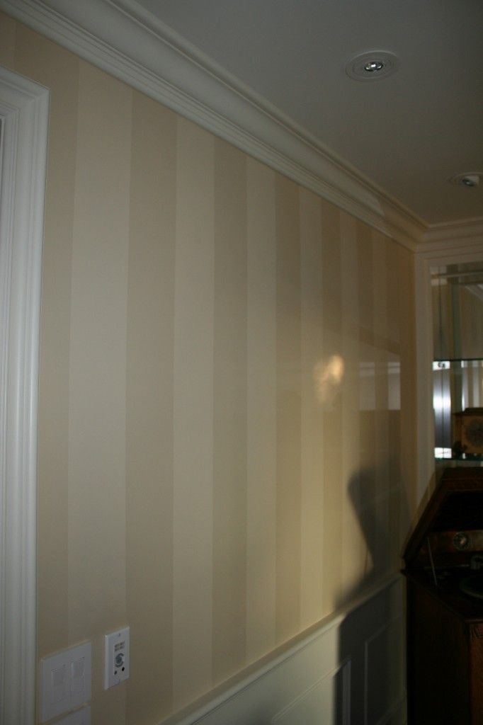 Specialty Finishes Tone On Tone Stripes Alternate Flat Paint With High Gloss Home Room Design Hallway Designs Home