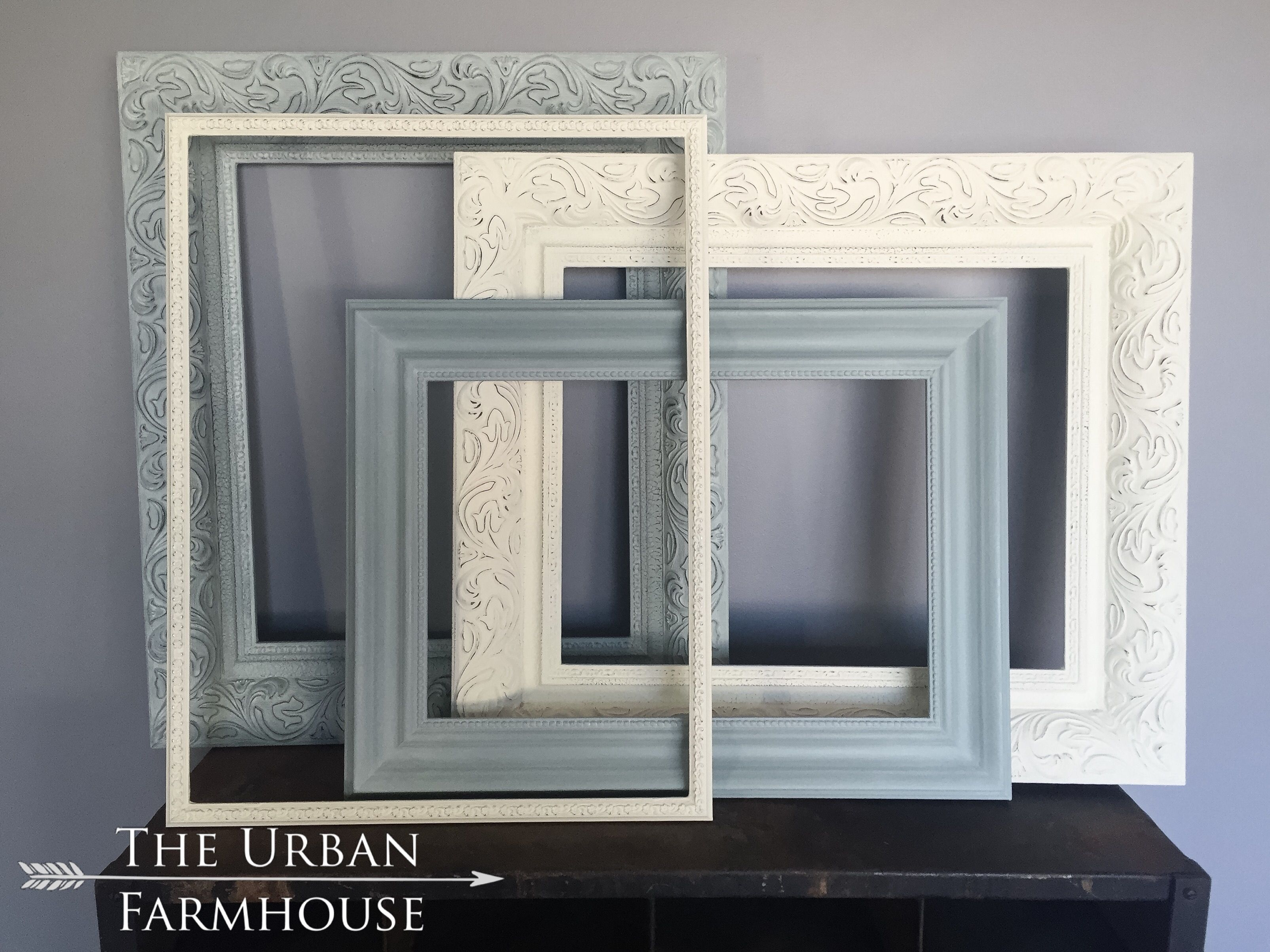 Hand Painted Wood Frames Using Annie Sloan Chalk Paint Paris