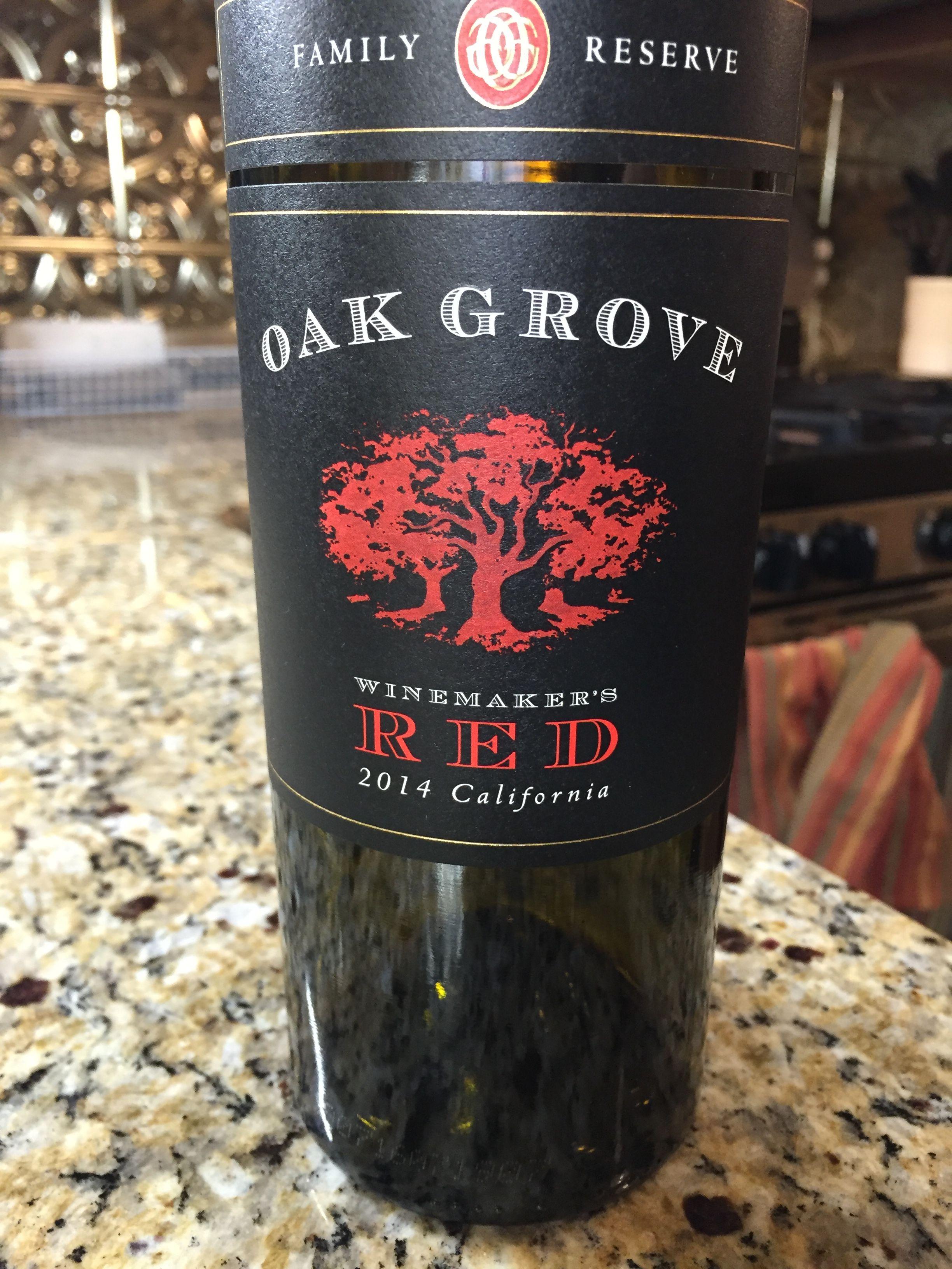 Oak Grove Not Bad Light Not Too Sweet Wine Bottle Liquor Store Red Wine