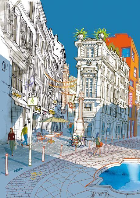 illustratore milano carlo stanga background