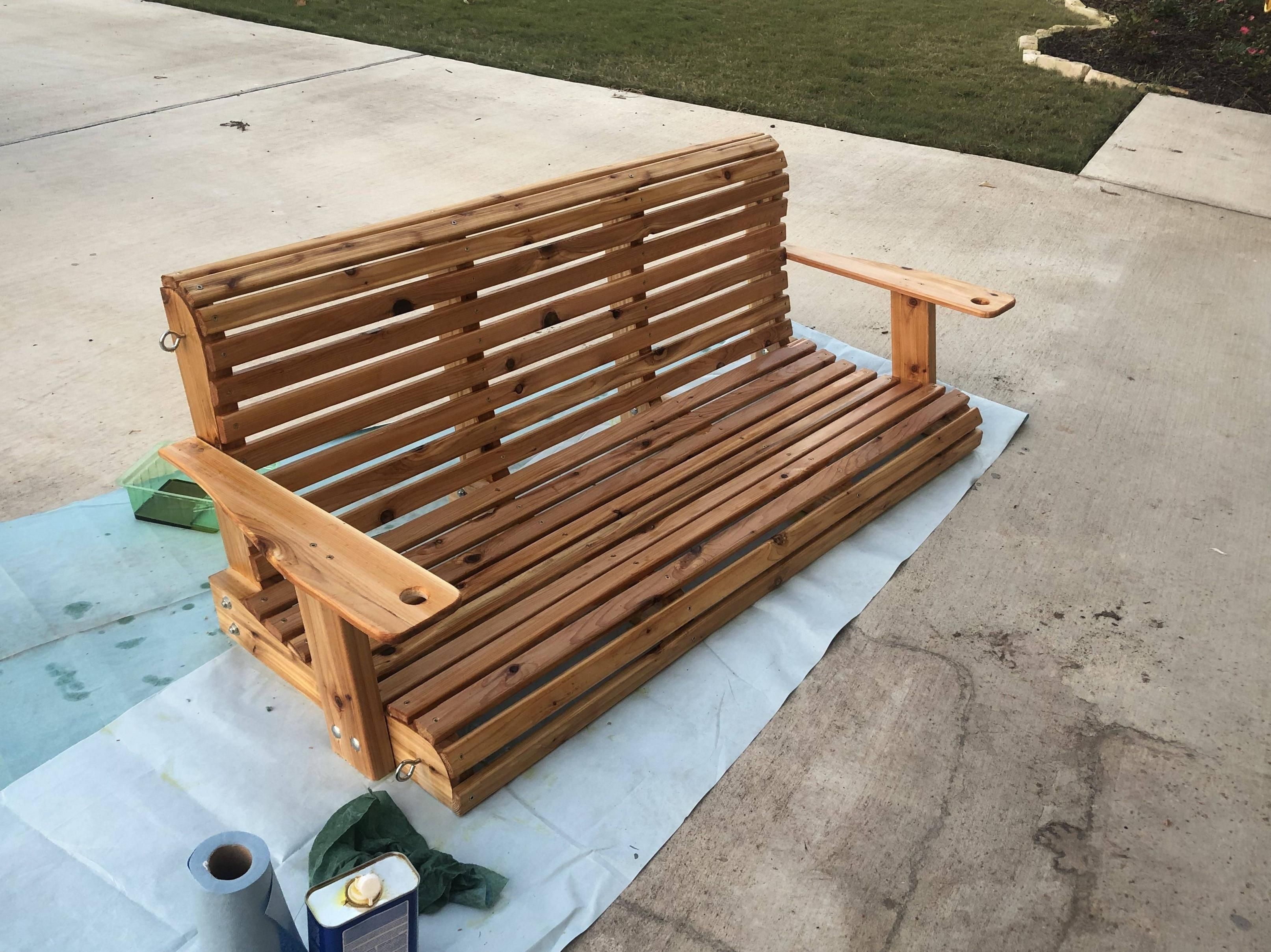 Cedar Porch Swing I Built For A Mothers Day Gift Http Bit Ly 2eax5j5 Porch Swing Woodworking Plans Wood Projects Free Woodworking Project Plans