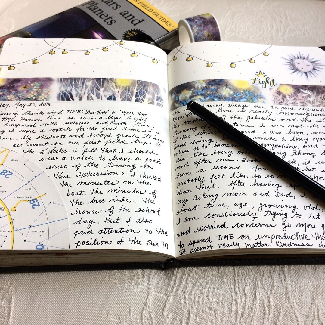 A skywatchers gratitude journaling, by Kathy, May 22, 22. More