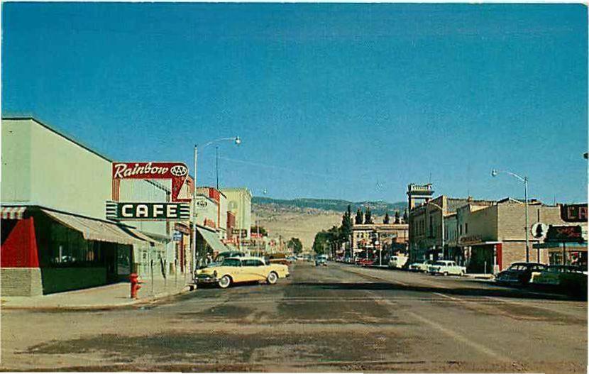 Postcard 1950s Street Scene Richfield Utah Richfield Richfield