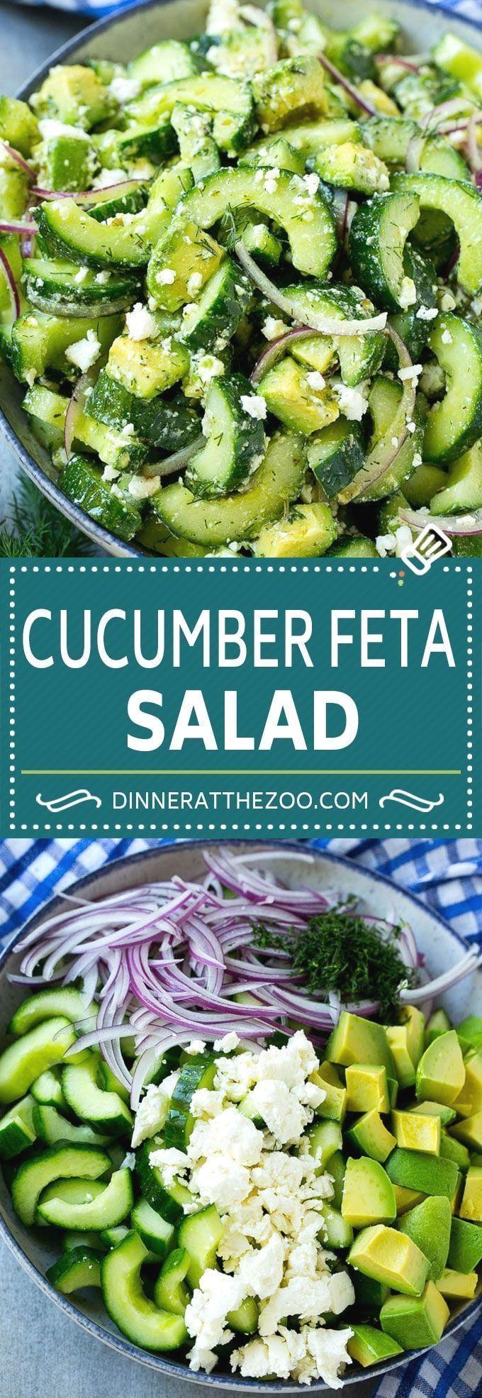 Cucumber Feta Salad Recipe | Cucumber Salad | Feta Cheese Salad | Summer Salad #...,  #Cheese... #ketofriendlysalads
