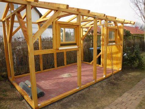 Holzgarage selber bauen  Gartenhaus selber bauen - Konstruktion | Grundrisse | Pinterest ...