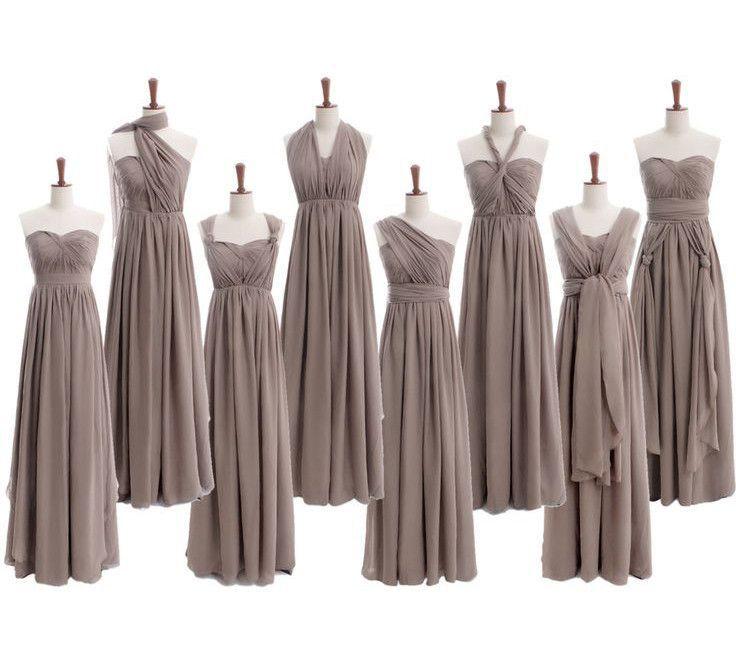 Affordable Wedding Gowns In Manila: Convertible Bridesmaid Dress,Long Bridesmaid Dress,Chiffon