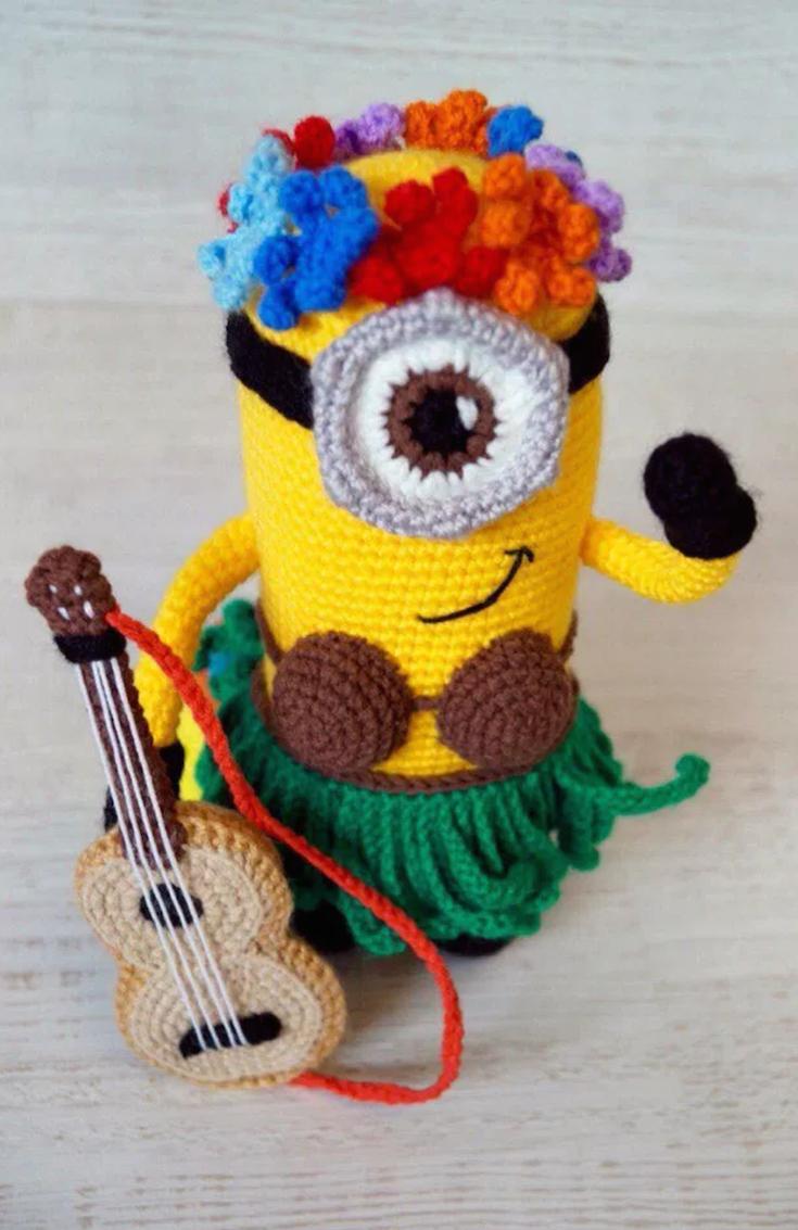 Hawaiian Minion crochet pattern
