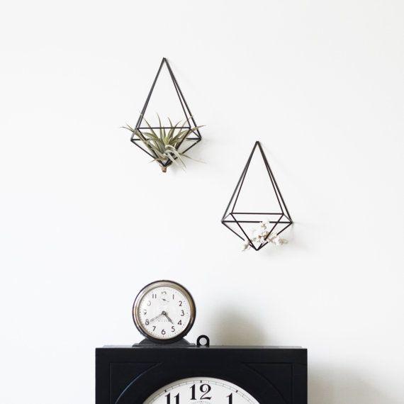 Set of 2  Himmeli Wall Prism no. 1  Modern Geometric door HRUSKAA