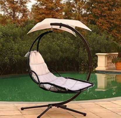 Hanging Chaise Lounger Chair Arc Stand Air Porch Swing Hammock Dream Chair Patio Lounge Chairs Hammock Swing Chair Chaise Lounger