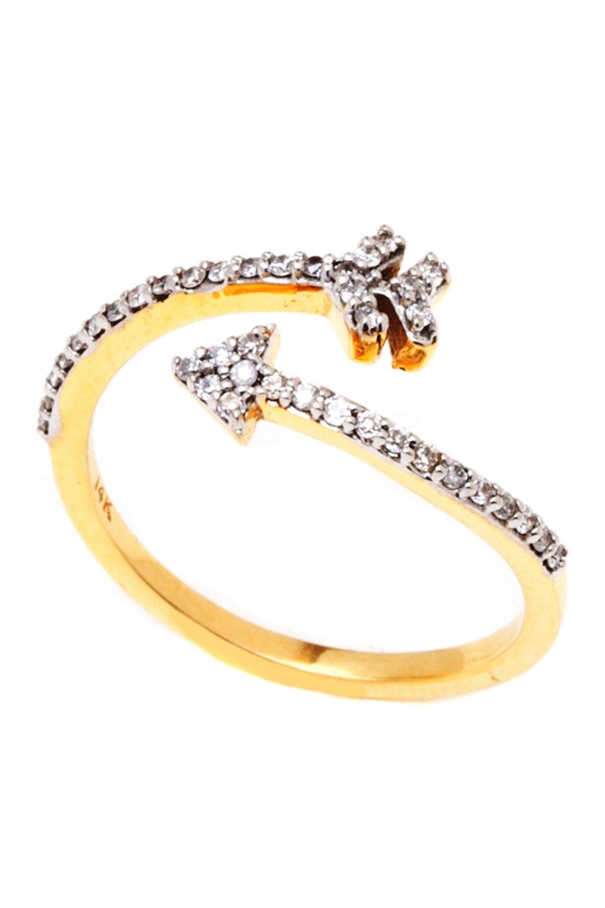Diamond Arrow Ring