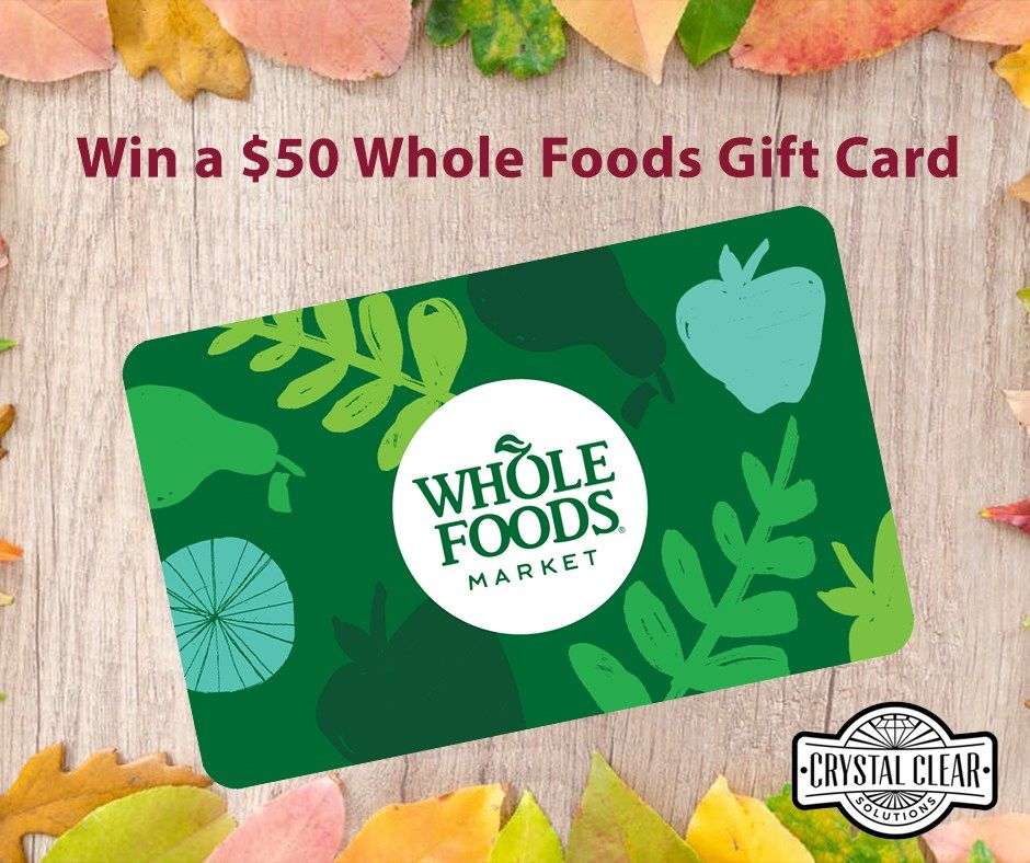 $50 Whole Foods Gift Card https://www.crystalclearsolutionstore.com ...