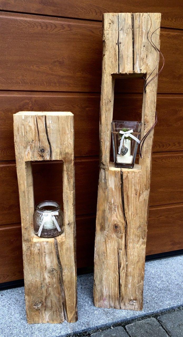 Holzlaternen - Holzfüchse