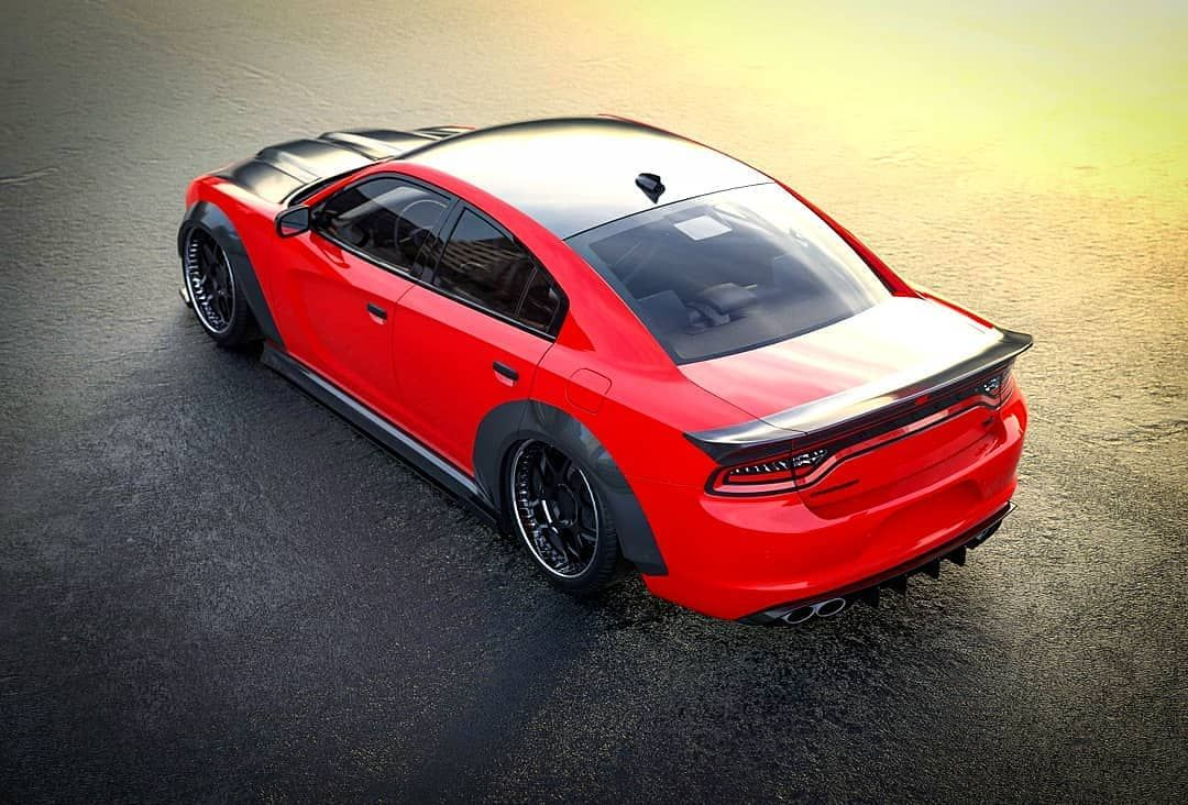 77 Likes 1 Comments Wider Diffsplitt On Instagram Dodge Charger Carbon Plastic Bodykit Fenders Side Skirts Splitter Hood And Ducktail Pre Order