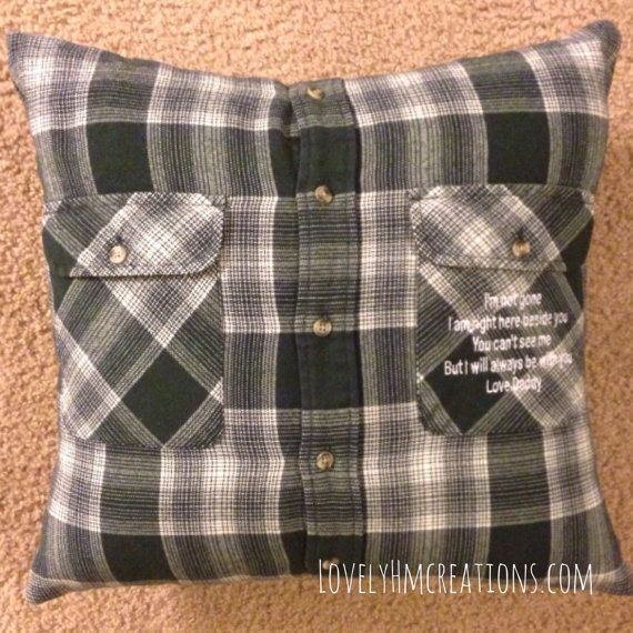 memory pillow insert and embroidery