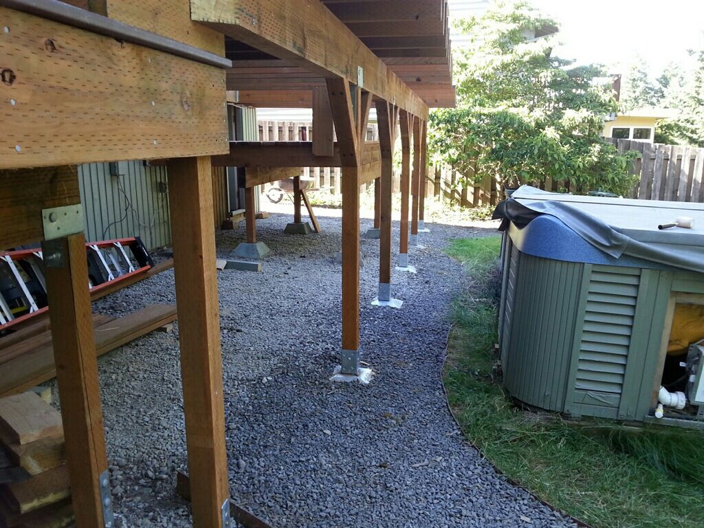 Build A Deck Without Digging Holes Using A Deck Post Base And Post Anchor Building A Deck Deck Over Concrete Patio Plans