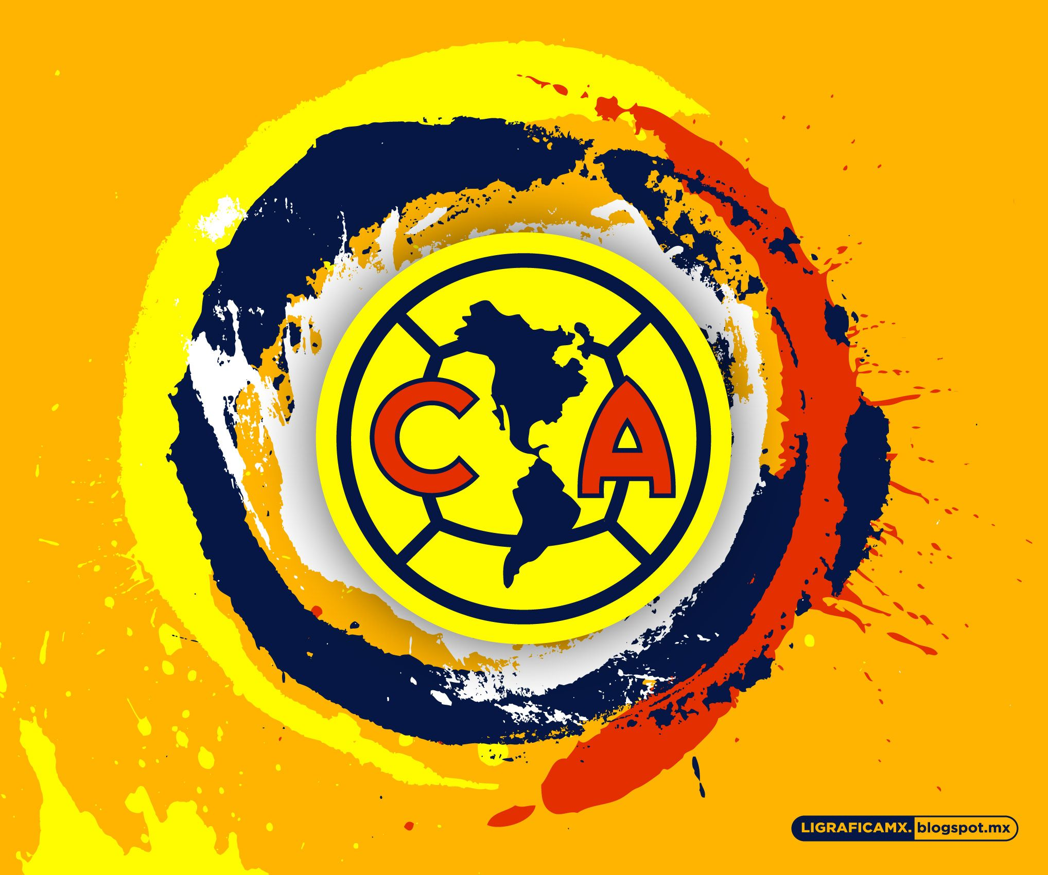 #Wallpaper #SplashCircle #América #LigraficaMX