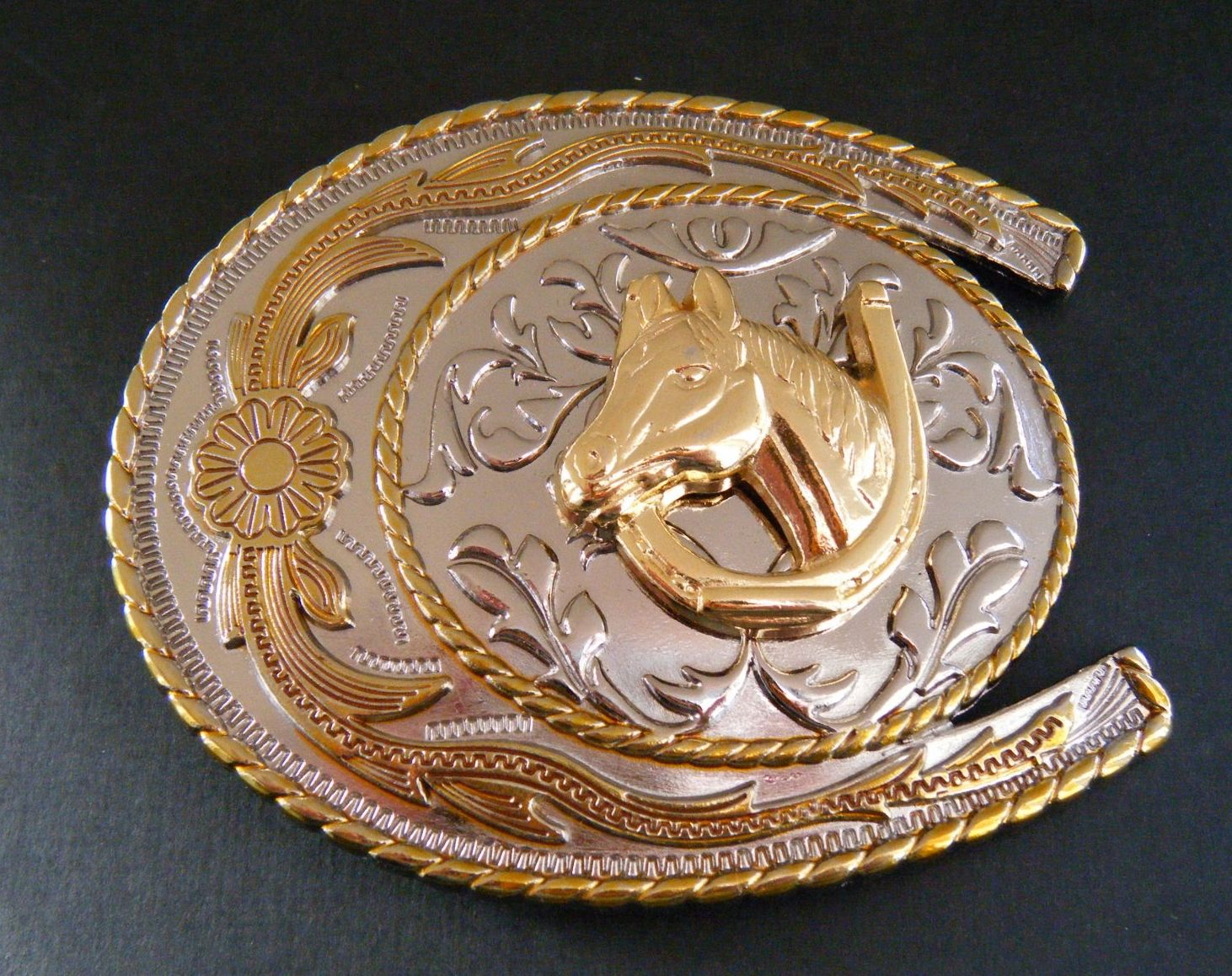 New Western Belt Buckle Western Cowboy HORSE SHOE Rodeo