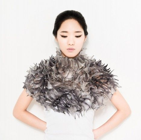 Also on show is Kyeok Kim's Wrapped Skin, which is made out of parchment and iron wire  Make Your Movement, Korean contemporary objects exhibition at the Korean Cultural Centre in London