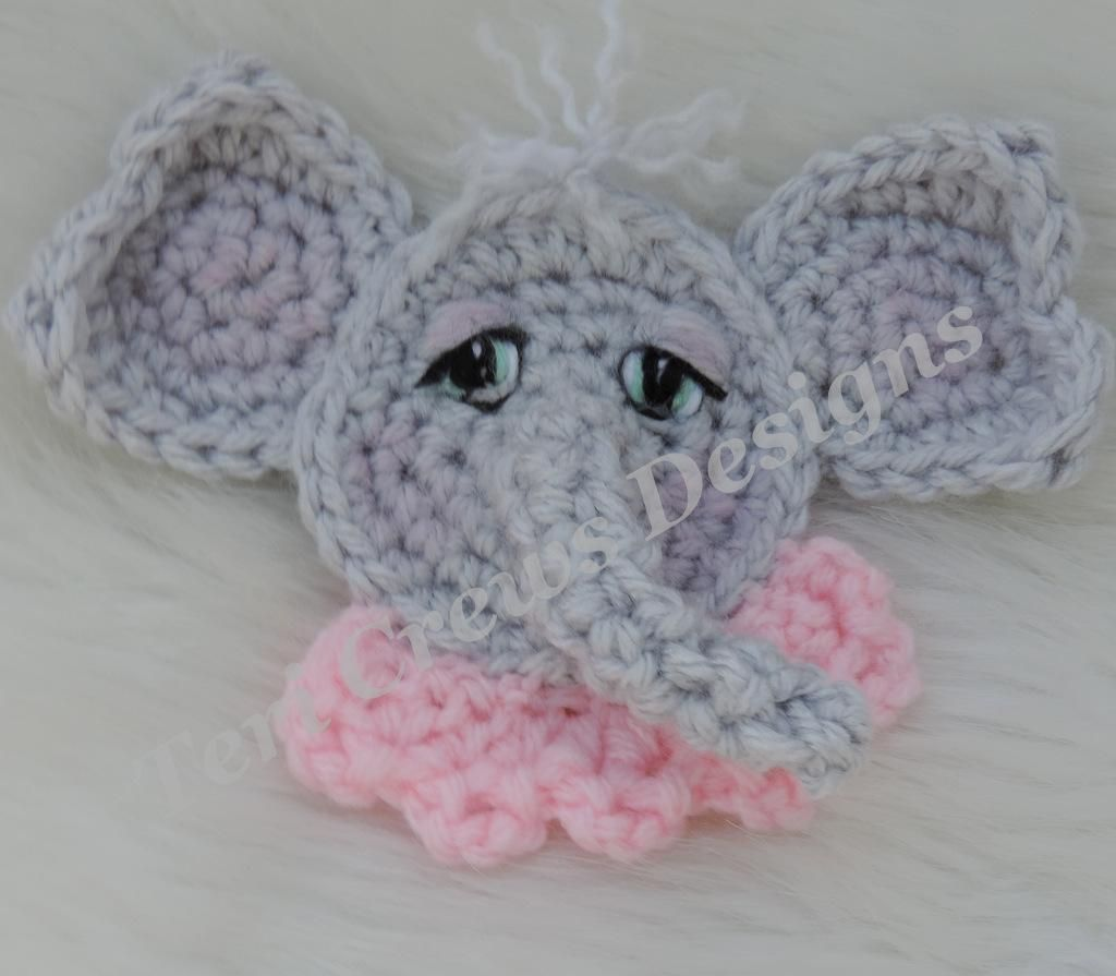 11 Free Crochet Elephant Patterns | 895x1024